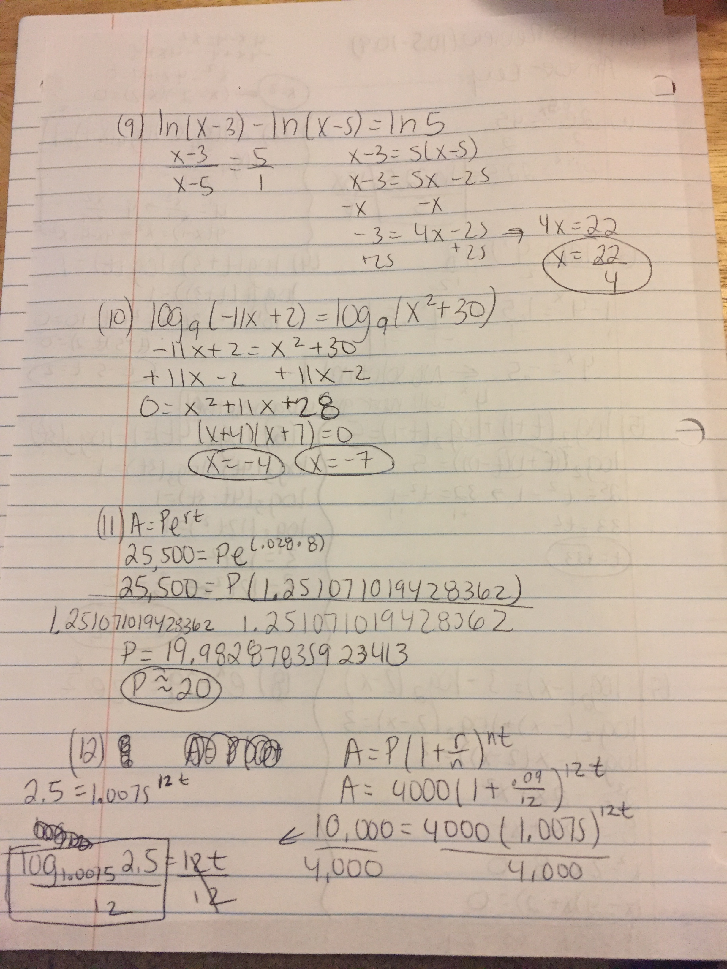 Answer key to Review 10 5-10 9 page 1 – mazzeomath